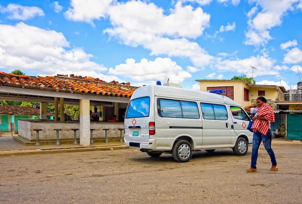 Ambulance in El Cano, south Havana, Cuba.