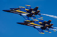 Blue Angels diamond parade pass at the Oregon International Airshow.