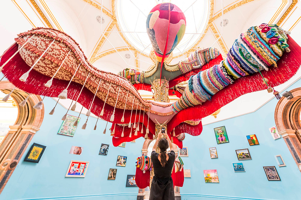 Royal Valkyrie by Joana Vasconcelos, not for sale - Royal Academy celebrates its 250th Summer Exhibition, and to mark this momentous occasion, the exhibition is co-ordinated by Grayson Perry RA.