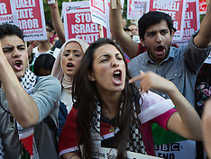 JUL 15 2014 Demonstration against BBC Israel-Palestine reporting
