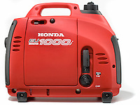 honda eu1000i portable generator photographed on white