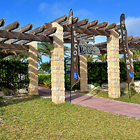 Welcome Gate at Great Stirrup Cay, Bahamas<br />