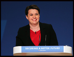 Image licensed to i-Images Picture Agency. 28/09/2014. Birmingham, United Kingdom. Ruth Davidson, Leader of the Scottish Conservatives speaking on the opening day of the Conservative Party Conference in Birmingham, United Kingdom.   Picture by Stephen Lock / i-Images