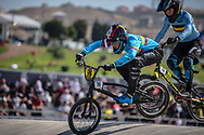 14 Boys #76 (CHAPARRO HEREDIA Juan Pablo) COL at the 2018 UCI BMX World Championships in Baku, Azerbaijan.