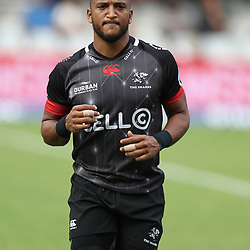 Rhyno Smith of the Cell C Sharks during the Super Rugby match between the Cell C Sharks and the Western Force at Growthpoint Kings Park on May 06, 2017 in Durban, South Africa. (Photo by Steve Haag)