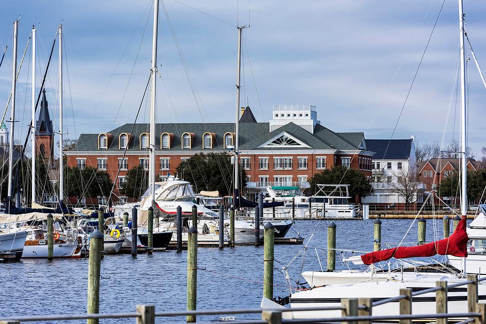 Marina, New Bern, North Carolina, USA.