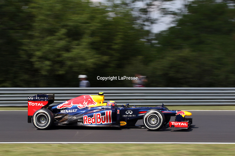 &copy; Photo4 / LaPresse<br /> 28/7/2012 Budapest<br /> Sport <br /> Hungarian Grand Prix, Hungaroring 26-29 July 2012<br /> In the pic: Mark Webber (AUS), Red Bull Racing, RB8