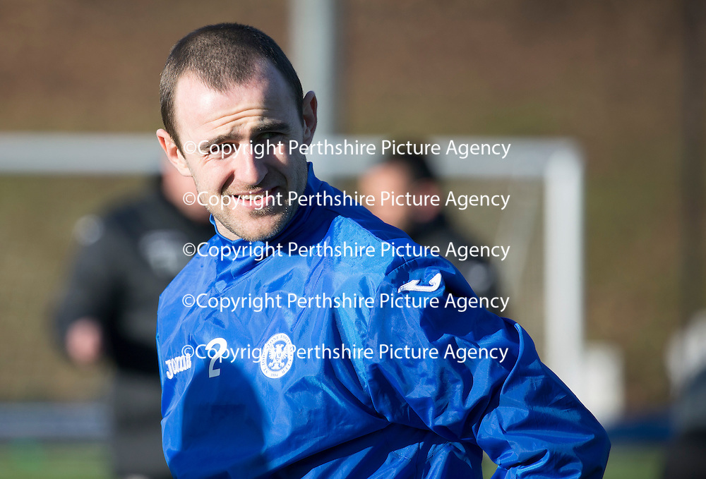 St Johnstone Training....05.02.15<br /> Dave Mackay pictured training at McDiarmid Park this morning ahead of Saturday's Scottish Cup tie at Queen of the South.<br /> Picture by Graeme Hart.<br /> Copyright Perthshire Picture Agency<br /> Tel: 01738 623350  Mobile: 07990 594431