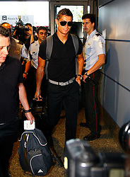 Real Madrid's Cristiano Ronaldo in Barajas' Airport in the begin of USA tour.August 6 2009.