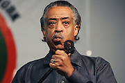 "Reverend Al Sharpton speaks at an Anti-Gun Violence Rally/Press Conference and ""Peace Walk"" to the site where 17-year-old Corey Squire was killed from gang violence.  Event took place on May 11 afternoon at the National Action Network headquarters on 145th St."