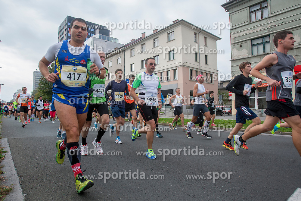 Maurizio Deriu during 19th Ljubljana Marathon 2014 on October 26, 2014 in Ljubljana, Slovenia. Photo by Urban Urbanc / Sportida.com