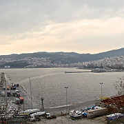 The city of Kavala in Greece, on the Aegian Sea