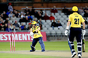 Tim Ambrose of the Birmingham Bears bowled during the Vitality T20 Blast North Group match between Lancashire Lightning and Birmingham Bears at the Emirates, Old Trafford, Manchester, United Kingdom on 10 August 2018.