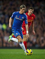11.11.2012, Stamford Bridge, London, ENG, Premier League, FC Chelsea vs FC Liverpool, 11. Runde, im Bild Chelsea's Fernando Torres in action against Liverpool's captain Steven Gerrard during the English Premier League 11th round match between Chelsea FC and Liverpool FC at the Stamford Bridge, London, Great Britain on 2012/11/11. EXPA Pictures © 2012, PhotoCredit: EXPA/ Propagandaphoto/ David Rawcliffe..***** ATTENTION - OUT OF ENG, GBR, UK *****