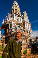 "A ""castle"" (El Castillo) built single-handedly by local man Cano Espinoza, Antonito, Colorado USA. Cano says his main influences for the Castle are ""Vitamin Mary Jane"" and Jesus."