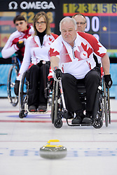 Jim Armstrong, Dennis Thiessen, Sonja Gaudet, Svetlana Pakhomova, Wheelchair Curling Finals at the 2014 Sochi Winter Paralympic Games, Russia