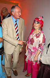 ZANDRA RHODES and KEN LIVINGSTON at a cocktail party hosted by MAC cosmetics to kick off London Fashion Week at The Hospital, 22 Endell Street London on 18th September 2005.At the event, top model Linda Evangelista presented Ken Livingston the Lord Mayor of London with a cheque for £100,000 in aid of the Loomba Trust that aims to privide education to orphaned children through a natural disaster or through HIV/AIDS.<br /><br />NON EXCLUSIVE - WORLD RIGHTS