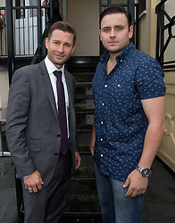 Andy Cross of Blackthorn with darts player Steve Brown- Photo mandatory by-line: Kieran McManus/JMP - Tel: Mobile: 07966 386802 31/07/2013 - SPORT - FOOTBALL - Avon Gorge Hotel - Clifton Suspension bridge - Bristol -  Team Photo