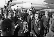 American Astronauts visit Dublin.<br /> 1970.<br /> 13.10.1970.<br /> 10.13.1970.<br /> 13th October 1970.<br /> The Astronauts of the Apollo 13 moon mission visited Ireland as part of a European tour. James Lovell, John Swigert and Fred Haise were on a planned landing on the lunar surface ,when two day after blast off on 11 April 1970 an explosion aboard the craft resulted in one of the most amazing missions in the Apollo series. The explosion placed the crew in severe danger and it was only through much skill and courage that the astronauts managed to make emergency repairs to enable them to return home. Up until they returned on 17th April the world held its breath as the astronauts fought their way back to Earth.