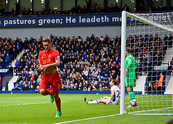 WEST BROMWICH, ENGLAND - Easter Sunday, April 16, 2017, 2016: Liverpool's Roberto Firmino celebrates scoring the first goal against West Bromwich Albion during the FA Premier League match at the Hawthorns. (Pic by David Rawcliffe/Propaganda)