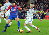 Football - 2018 / 2019 Premier League - Crystal Palace vs Cardiff City.<br /> <br /> Joe Bennett of Cardiff and James McArthur at Selhurst Park<br /> <br /> <br /> Credit: COLORSPORT/ANDREW COWIE