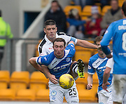 Dundee&rsquo;s Darren O&rsquo;Dea and St Johnstone&rsquo;s Steven MacLean - St Johnstone v Dundee, Ladbrokes Scottish Premiership at McDiarmid Park, Perth. Photo: David Young<br /> <br />  - &copy; David Young - www.davidyoungphoto.co.uk - email: davidyoungphoto@gmail.com
