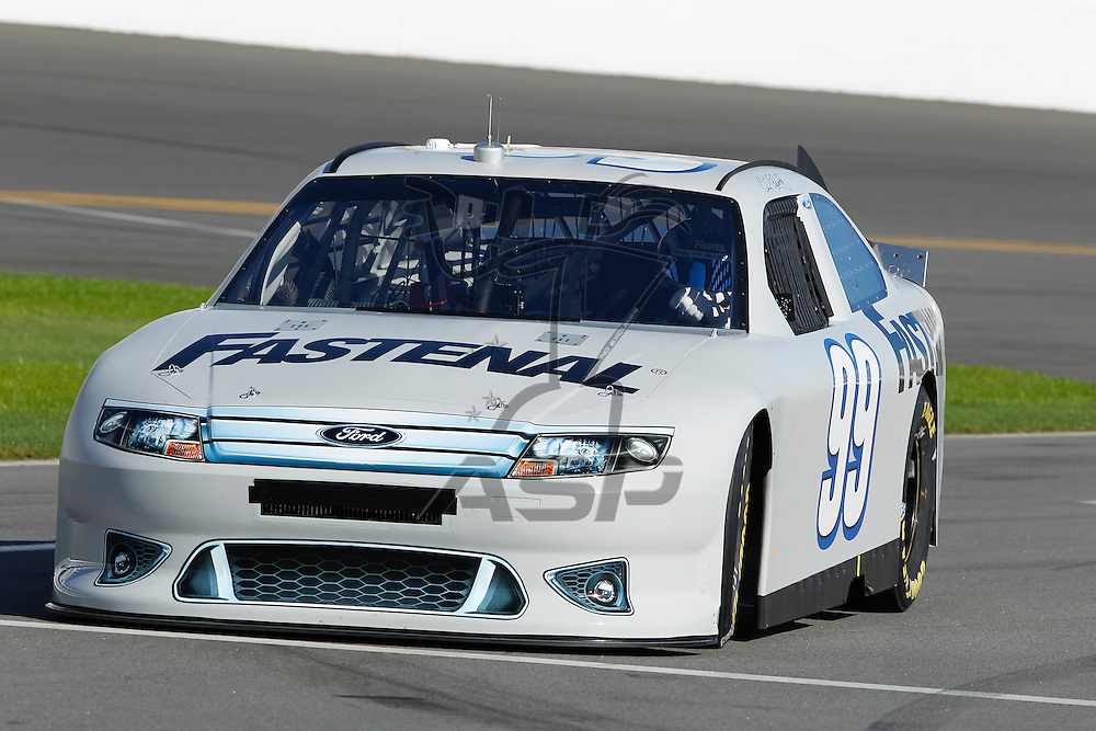 12 January, 2012:   Carl Edwards (99) brings his Fastenal Ford down the front stretch during open testing for the NASCAR Sprint Cup Series at the Daytona International Speedway in Daytona Beach, FL.