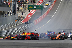 July 9, 2017 - Spielberg, Austria - Motorsports: FIA Formula One World Championship 2017, Grand Prix of Austria, .#33 Max Verstappen (NLD, Red Bull Racing), #14 Fernando Alonso (ESP, McLaren Honda), #26 Daniil Kvyat (RUS, Scuderia Toro Rosso) (Credit Image: © Hoch Zwei via ZUMA Wire)