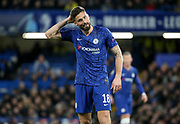 Olivier Giroud of Chelsea during the UEFA Champions League, round of 16, 1st leg football match between Chelsea and Bayern Munich on February 25, 2020 at Stamford Bridge stadium in London, England - Photo Juan Soliz / ProSportsImages / DPPI
