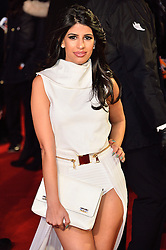 © Licensed to London News Pictures. 22/02/2016. JASMIN WALIA attends the GRIMSBY Film premiere. The film centres around a black-ops spy whose brother is a football hooligan.  London, UK. Photo credit: Ray Tang/LNP