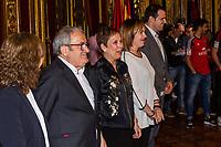 Osasuna's president, Luis Sabalza during the celebration for promotion to La Liga BBVA at Navarra palace, with the presence of Uxue Barkos, president os Navarra . 19,06,2016. (ALTERPHOTOS/Rodrigo Jimenez)