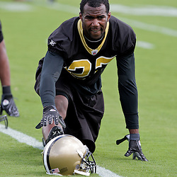 08 May 2009: Saints first round draft selection Malcom Jenkins (27) a cornerback/safety from Ohio State participates in drills during the New Orleans Saints  rookie minicamp held at the team's practice facility in Metairie, Louisiana.