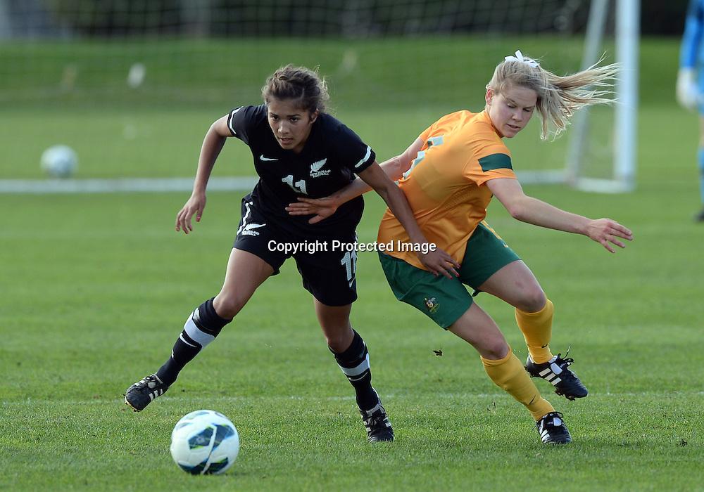 Chloe Knott. Junior Football Ferns v Young Matildas. Kristin School, Albany. Thursday 25 July 2013. Photo: Andrew Cornaga/Photosport.co.nz