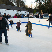 Christmas Fayre at The Famous Grouse Experience, Glenturret Distillery, Crieff<br /> Ice skating<br /> Picture by Graeme Hart.<br /> Copyright Perthshire Picture Agency<br /> Tel: 01738 623350  Mobile: 07990 594431