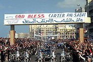 A 28 MG IMAGE OF:president Jimmy Carter visits Anwar Sadat in Egypt.Parade arrive in Alexandria..Photo by Dennis Brack  C B