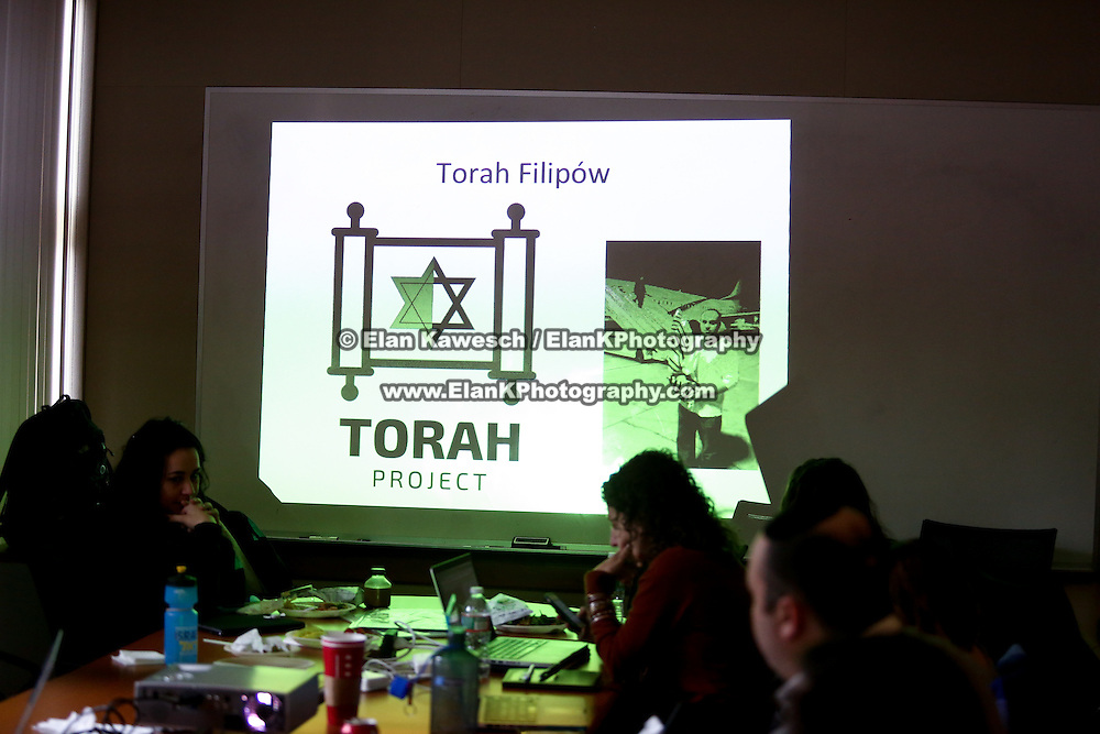 "Jonny Daniels, Founder and Executive Director of ""From The Depths,"" speaks at Boston University Hillel on December 2, 2014 in Boston, Massachusetts. (Photo by Elan Kawesch)"