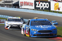August 5, 2018 - Watkins Glen, New York, United States of America - Ryan Blaney (12) brings his car through the turns during the Go Bowling at The Glen at Watkins Glen International in Watkins Glen , New York. (Credit Image: © Chris Owens Asp Inc/ASP via ZUMA Wire)