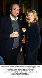 The HON.DAVID and MRS MACMILLAN, she was designer Arabella Pollen, at a reception in London on 3rd December 2003.PPG 98