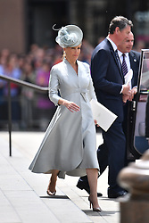 © Licensed to London News Pictures. 10/06/2016. London, UK. Members of the British Royal Family leave a service of thanksgiving to mark the 90th birthday of Queen Elizabeth II, held at St Paul's Cathedral in London. Photo credit: Ben Cawthra/LNP