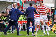 Hamilton Academical Midfielder Gramoz Kurtaj celebrates his opening goal during the Ladbrokes Scottish Premiership match between Hamilton Academical FC and Celtic at New Douglas Park, Hamilton, Scotland on 4 October 2015. Photo by Craig McAllister.