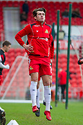 Doncaster Rovers Forward John Marquis (9) warming up for the EFL Sky Bet League 1 match between Doncaster Rovers and Bristol Rovers at the Keepmoat Stadium, Doncaster, England on 27 January 2018. Photo by Craig Zadoroznyj.