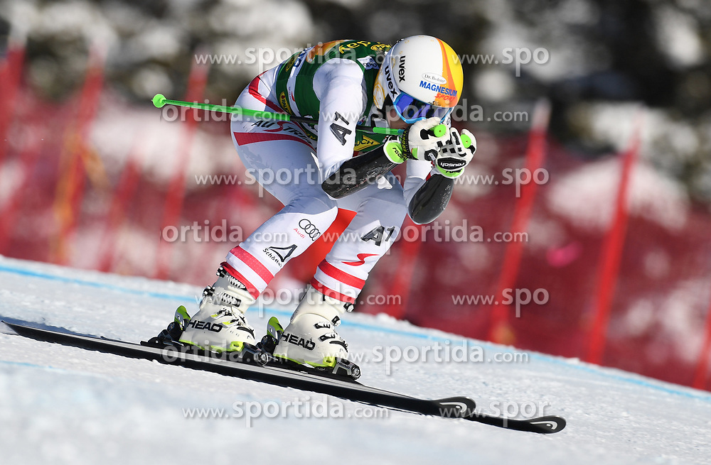 03.12.2017, Lake Louise, CAN, FIS Weltcup Ski Alpin, Lake Louise, Super G, Damen, im Bild Cornelia Huetter (AUT) // Cornelia Huetter of Austria in action during the ladie's Super G of FIS Ski Alpine World Cup in Lake Louise, Canada on 2017/12/03. EXPA Pictures &copy; 2017, PhotoCredit: EXPA/ SM<br /> <br /> *****ATTENTION - OUT of GER*****