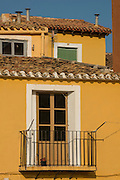 Buildings in the old quarter, Villajoyosa, Alicante, Spain Europe