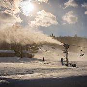 Attitash base area snowmaking
