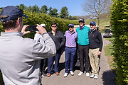 Justin Thomas stops for a quick group portrait as hosts the Strategic Communications/Justin Thomas Junior Championship presented by Phocus at Harmony Landing Country Club Friday, April 20, 2018, in Goshen, Ky. (Photo by Brian Bohannon)