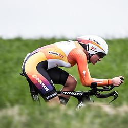 22-04-2016: Wielrennen: Tijdrit vrouwen: Borsele<br />Een tijdrit voor vrouwen op de vrijdagavond voorafgaand aan de omloop van Borsele voor vrouwen. Chantal Blaak
