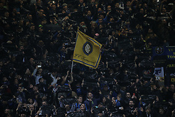 November 6, 2018 - Milan, Milan, Italy - FC Internazionale Milano fans show their support during  the UEFA Champions League group B match between FC Internazionale and FC Barcelona at Stadio Giuseppe Meazza on November 06, 2018 in Milan, Italy. (Credit Image: © Giuseppe Cottini/NurPhoto via ZUMA Press)
