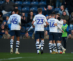 Tom Barkhuizen of Preston North End (R) celebrates after scoring his sides first goal - Mandatory by-line: Jack Phillips/JMP - 27/10/2018 - FOOTBALL - Deepdale - Preston, England - Preston North End v Rotherham United - English League Championship