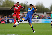 AFC Wimbledon midfielder Chris Whelpdale (11) during the EFL Sky Bet League 1 match between AFC Wimbledon and Swindon Town at the Cherry Red Records Stadium, Kingston, England on 15 October 2016. Photo by Stuart Butcher.