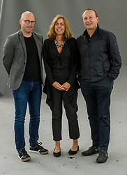 Pictured: Donal Ryan, Barbie Latza Nadeau and Steve Trent<br /> <br /> Donal Ryan is an Irish writer. His book The Spinning Heart was long listed for the Booker Prize in 2013 and won the Guardian First Book Award in the same year. <br /> <br /> Barbie Latza Nadeau is an American journalist in Rome, working for Newsweek, The Daily Beast and CNN. For more than two decades she has covered crime in Europe, Italian politics, the Vatican, the refugee crisis and women's issues<br /> <br /> Steve Trent is co-founder and Executive Director of the UK-based Environmental Justice Foundation (EJF) www.ejfoundation.org . Steve has over 25 years of experience of work in environmental and human-rights campaigns. He is also a founder of the USA- based organisation WildAid, www.wildaid.org, and previously served as its President, leading their work in China, India and the UK.